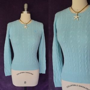 Lilly Pulitzer cashmere cable crew neck sweater